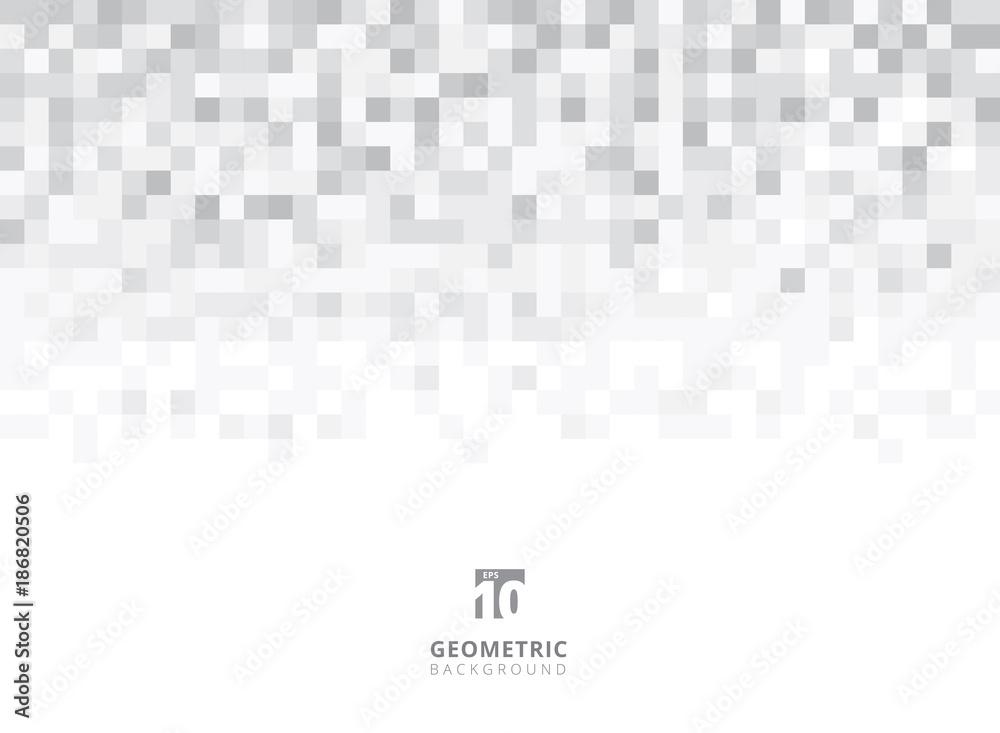 Abstrakt obciosuje geometrycznego popielatego i białego tło z kopii przestrzenią. Pixel, Grid, Mosaic. <span>plik: #186820506   autor: phochi</span>