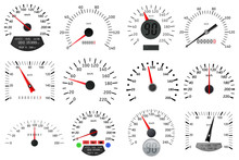 Speedometer And Tachometer Sca...