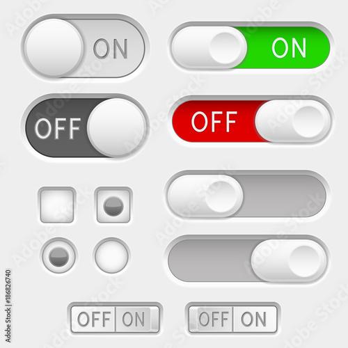 Fényképezés  Switch slider buttons. Radio buttons