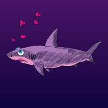 Cartoon Character Of Shark Wit...
