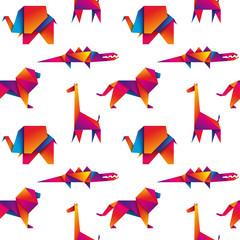 afrykańskie zwierzęta bezszwowe tło wektor