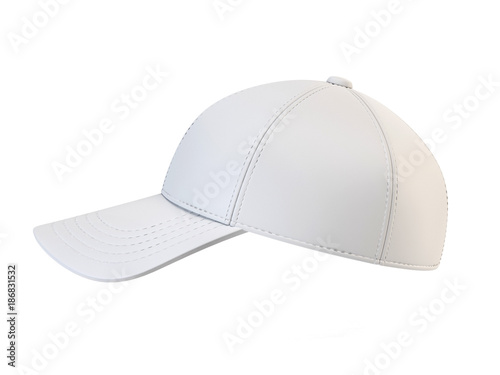 White baseball cap mock up, blank hat template isolated on white ...