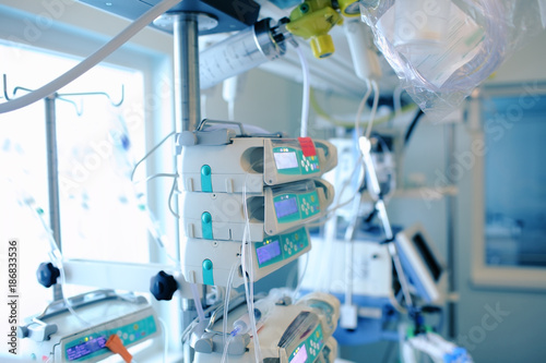 Professional equipment in the hospital intensive care unit