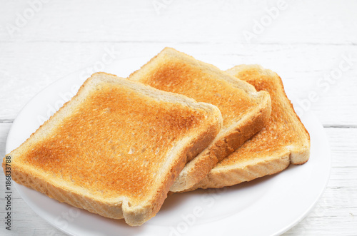 Slices of toast bread Canvas Print
