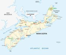 Nova Scotia Road Map, Canada