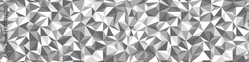 obraz PCV Low Poly black and white seamless background
