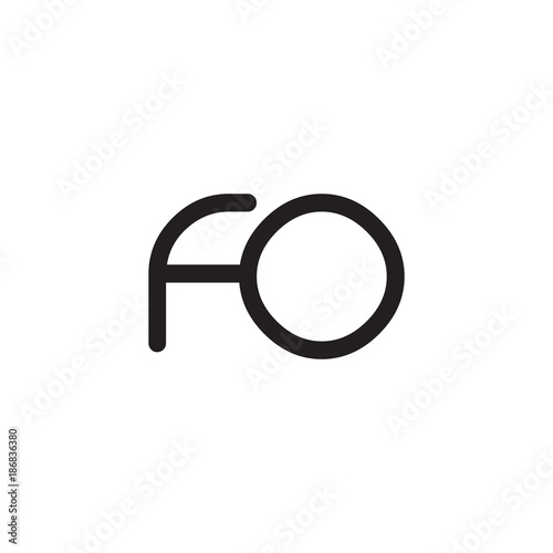Fototapeta initial letter rounded logo modern obraz na płótnie