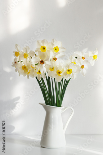 Bouquet of white narcissus