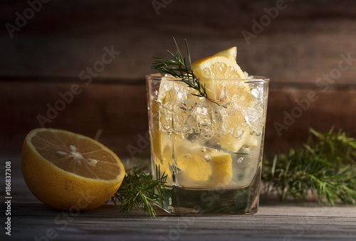 Cocktail with gin.