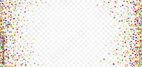 Obraz Colored Confetti Transparent Header - fototapety do salonu