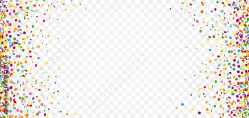 Αφίσα Colored Confetti Transparent Header