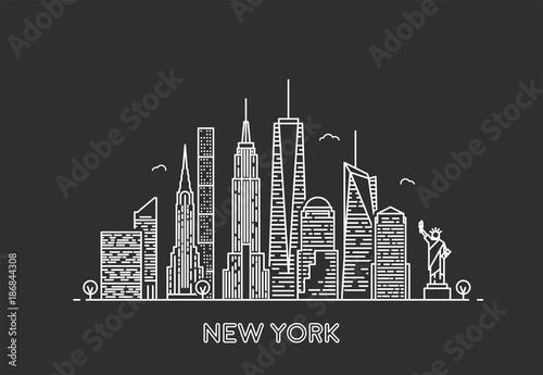 Fototapeta New York skyline.