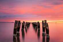 The Jetty Ruins At Clifton Springs