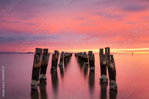 Fotografie, Obraz  The Jetty Ruins at Clifton Springs
