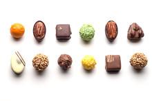 Various Chocolate Pralines Iso...