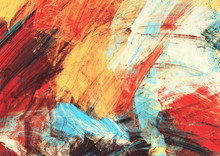 Bright Artistic Splashes On Wh...