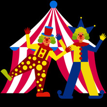 Clowns Perform In Front Of A T...