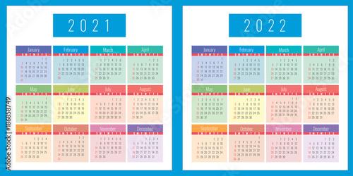 Poster  Calendar 2021, 2022, design, business, vector, set, template,