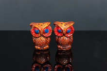Hand Carved And Painted Owl Sh...
