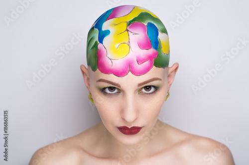 Fotografie, Obraz  beauty bald woman