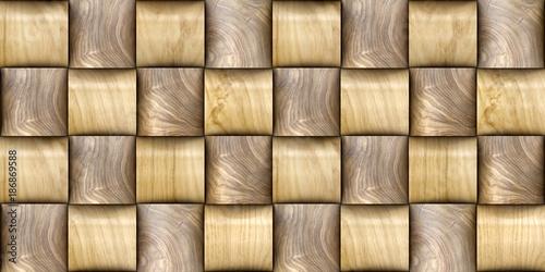 Obrazy brązowe  3d-wallpaper-of-wood-wicker-3d-tiles-material-wood-oak-and-nut-high-quality-seamless-realistic