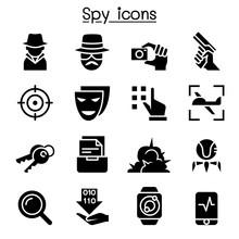 Spy Icon Set Vector Illustration Graphic Design