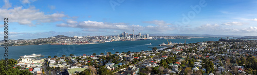 Panoramic view of Auckland city from Devonport