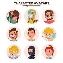 Character People Avatar Set Ve...