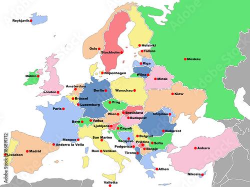 Obraz Europa Karte - fototapety do salonu