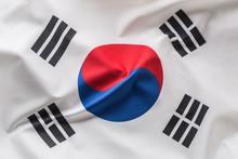 South Korea Flag. Colorful Sou...
