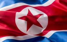 North Korea Flag. Colorful Nor...