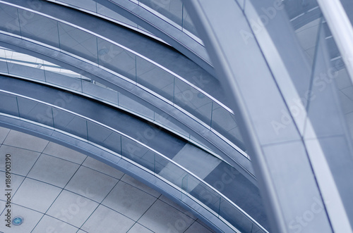 Fotografia  BERLIN, GERMANY - 11 AUG 2012: an Helicoidal ramp inside the Parliament building's transparent cupola in Berlin, Germany