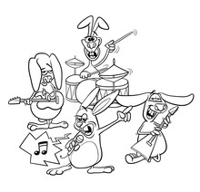 Rabbits Rock Musicians Band Co...