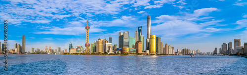 Canvas Print Shanghai Bund architectural landscape and skyline