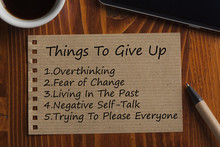 Things To Give Up Written On R...