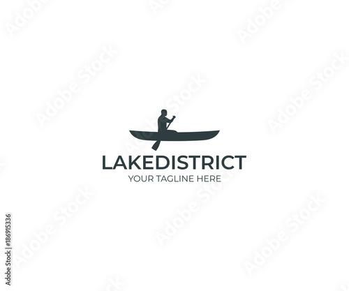 Fototapeta  Canoeing Logo Template