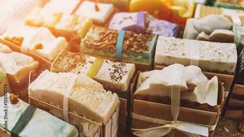 Handmade natural eco soap, selective focus Tapéta, Fotótapéta