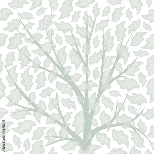 Seamless pattern with petals, branches. Vector eps10. For background design, fabric. Pastel tone.