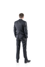 Businessman, Rear View, Isolated