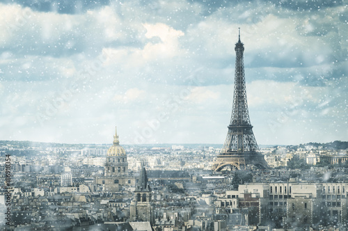 Foto  snow in Paris