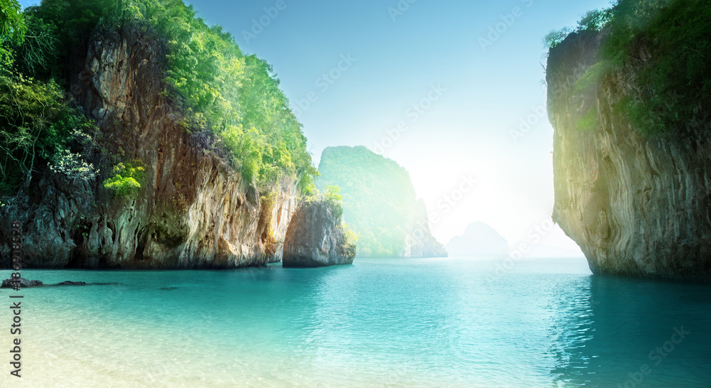 Fototapeta beach of small island, Krabi province, Thailand