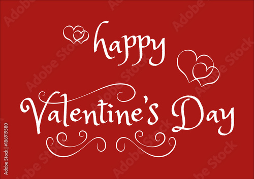 Abstract Happy Valentine Day Calligraphy Text For Greeting