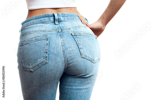 Tuinposter Ezel Female bottom in tight jeans