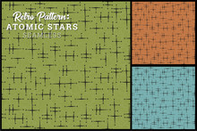 Seamless Retro Star Pattern In...