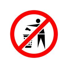No Recycle Vector Icon