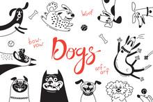 Card With Joyful Dogs And Happ...