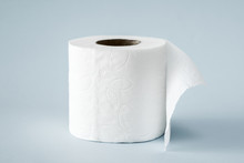 White Roll Toilet Paper On The...