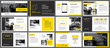 Yellow element for slide infographic on background. Presentation template. Use for business annual report, flyer, corporate marketing, leaflet, advertising, brochure, modern style.