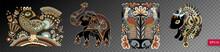 Set Of Ethnic Decorative Anima...