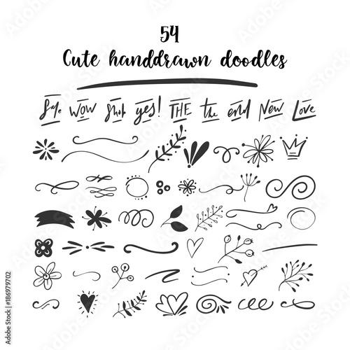 Fotografía  Handdrawn vector doodles.